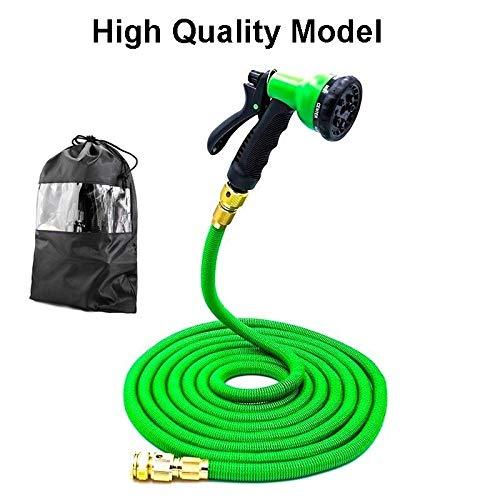 Manguera extensible para riego de 7,6 a 61 m, manguera de jardín mágica flexible, manguera de riego de la UE con pistola de pulverización para lavado de coche