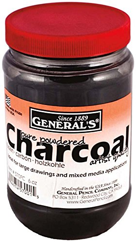 General Pencil GEN-570PC Powdered Charcoal, 6 oz/177ml