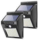 Hoxida Solar Wall Lights Outdoor, 30 LED Solar Motion Sensor Security Lights