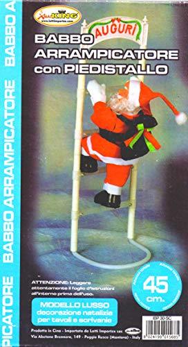 AX8 Kerstman klimmer met standaard en ladder - 45 cm - kerstdecoratie voor tafel en bureau
