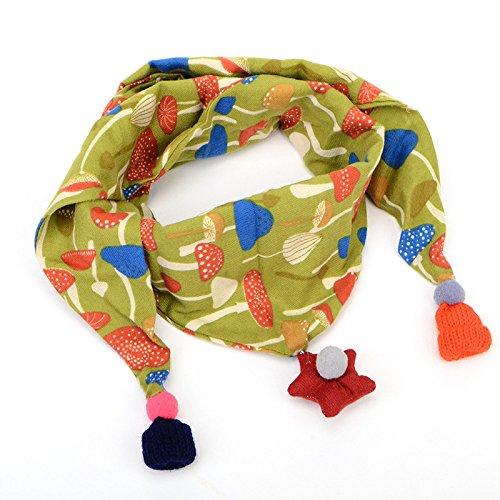 JHD Winter Warm Kinderen Sjaals Katoen en Linnen Driehoek Sjaal Baby Cartoon Sjaal