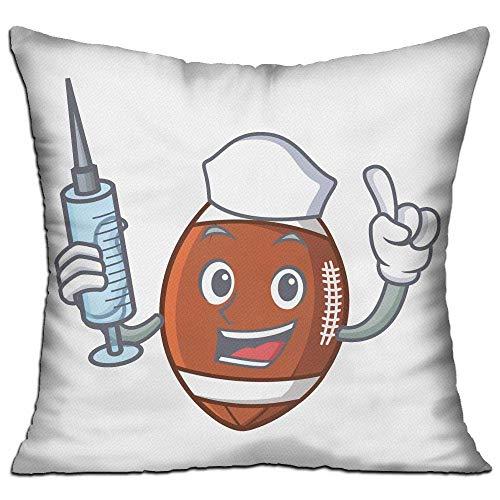 Naiyin Cotton Throw Pillow Cases,Nurse American Football,Pillow Covers Decorative Pillowcase Cushion Covers 18x18 Inches