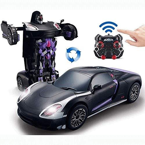DJXWZX RC Auto trasformano l'automobile del robot for la migliore delle ragazze dei ragazzi del regalo di compleanno a comando vocale Deformazione del robot di controllo remoto Car deformazione Autobo
