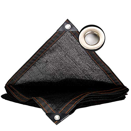 LKLXJ Patio Sun Shades, With Grommets Shade Mesh Tarp, Suitable For Outdoor Garage, Reinforced Corner, Shade Sail Rectangle, Long Use Time, Tear Proof, Sunscreen Shade Cloth Black