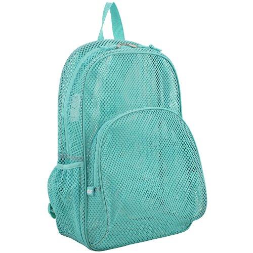 Eastsport Mesh Backpack With Adjustable Padded Shoulder Straps, Turquoise
