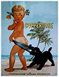 Coppertone,12'' X 8'' Tin Sign,Vintage Iron Painting Metal Plate Novelty Decor Club Cafe Bar