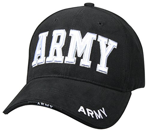 Rothco Deluxe Army Embroidered Low Profile Insignia Cap, Black