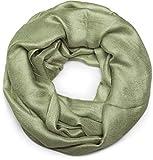 styleBREAKER fular de tubo ligero y suave en monocolor, fular de tubo, pañuelo, unisex 01017063, color:Verde jade