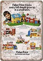 Fisher Price World of Little People Toy ティンサイン ポスター ン サイン プレート ブリキ看板 ホーム バーために