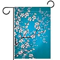 ガーデンフラッグ、屋外看板吊り飾り、日本の桜 、テラス鉢植えデッキ用28x40インチ