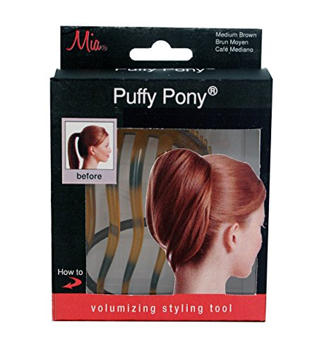 Mia Puffy Pony, Ponytail Hair Volumizing, Hair Styling Tool, Bump It Up, Blonde, Elastic Rubber Band, For Women, Hair Stylists and Girls 1pc