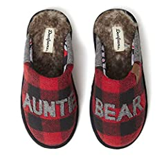 Buffalo check upper with Auntie Bear applique and cozy furry footbed Cushioned insole with memory foam for added comfort. Easy on/off silhouette with indoor/outdoor outsole. Machine washable for long lasting freshness. Matching collection for the who...