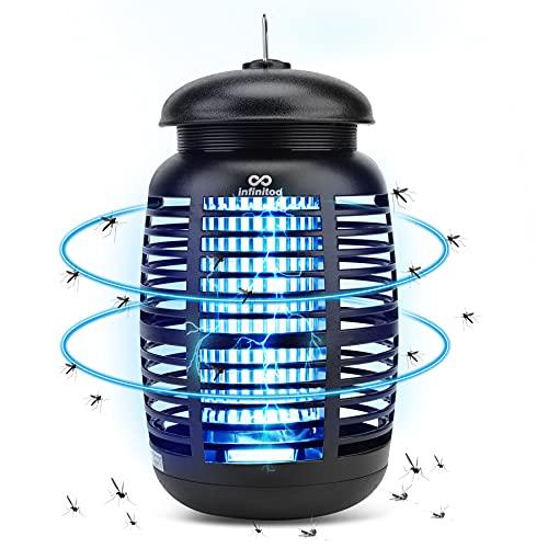 infinitoo Lampe Anti Moustique, 15W UV Tueur dInsectes Électrique Anti Insectes Répulsif, Destructeur d Insectes Piège à Mouches Efficace Portée 80m², Non Toxique pour Intérieur et Extérieur