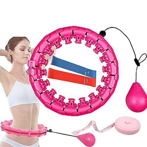Menzs Smart Hula Hoop Fitness Reifen 2-in-1 Einstellbar Breit Smart Hoola Hoop, mit Massageknoten und 24 beweglichen Teilen verwendet Hoola Hoop, Nicht Fallend