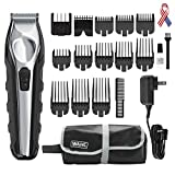 Wahl Lithium Ion Total Beard Trimmer, Facial Hair clippers with 13 Guide Combs for Easy Trimming, Detailing & Grooming – model 9888, Black, silver