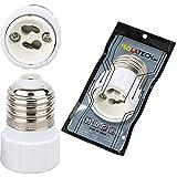 Adaptador de zócalo E27 a GU10 para iluminante E27 y zócalo GU10 (máx. 250V/2A) de ISOLATECH; (aquí: 1 pieza)