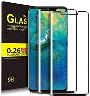 Kugi Huawei Mate 30 Pro Tempered Glass Screen Protector Curved Edge - Black 2 Pack