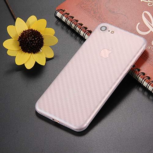 1XINGCHEN Cáscara del teléfono For el 7 de Fibra de Carbono Textura PP Cubierta Protectora del Caso Trasero del iPhone y 8 Funda Protectora (Color : Transparent)