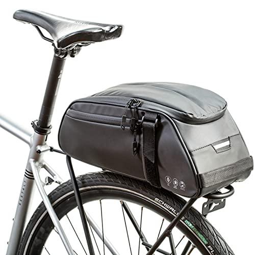 Guu Bolsa De Sillín De Bicicleta Bolsa De Asiento De Bicicleta Impermeable Bolsa De Ciclismo Reflectante Bolsa De Cola Ligera Bicicleta Plegable con Correa para El Hombro