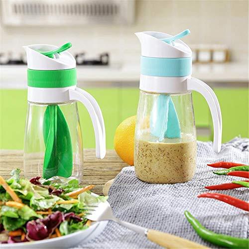 Romote 2ST Dressing Mixer Flasche Salatdressing Ketchup Mischbecher Saft Vorratsflasche Küchenzubehör