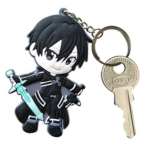 lunanana Sword Art Online Schlüsselanhänger, Anime Cell at Work Keychain, Asuna Kirito Acryl Anhänger Schlüsselbund, Für Anime Lovers(H28)
