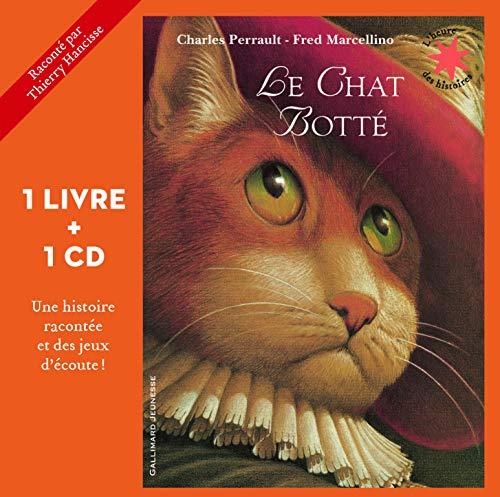Le chat botté - 1 livre + 1 CD - L'heure des histoires - De 3 à 6 ans