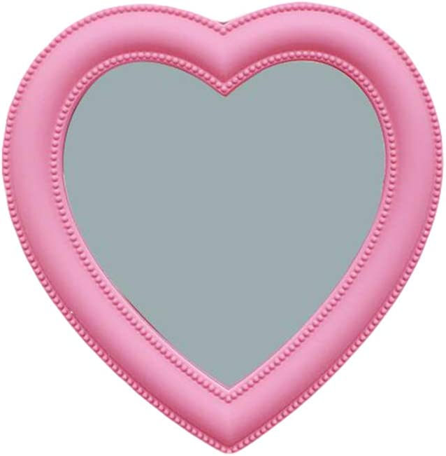 Pink Love Makeup Mirror Girl Wal New Limited price sale Orleans Mall Wall Hanging Room