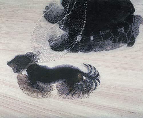 Giacomo Balla Giclee Imprimir en Papel-Pinturas Famosas Arte Fino Póster-Reproducción Decoración de Pared(El dinamismo Dice un Perro con una Correa El dinamismo de un Perro con una Correa) #XZZ