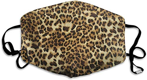 KINGAM Sexy Leopard - Funda para la cara lavable con bucles ajustables para las orejas, color blanco, talla única