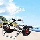 AYNEFY Porta Kayak e Canoa, Trasporto del Carrello del Carrello del trasportatore della Barca del Carrello della Ruota della Canoa del kajak della Lega di Alluminio