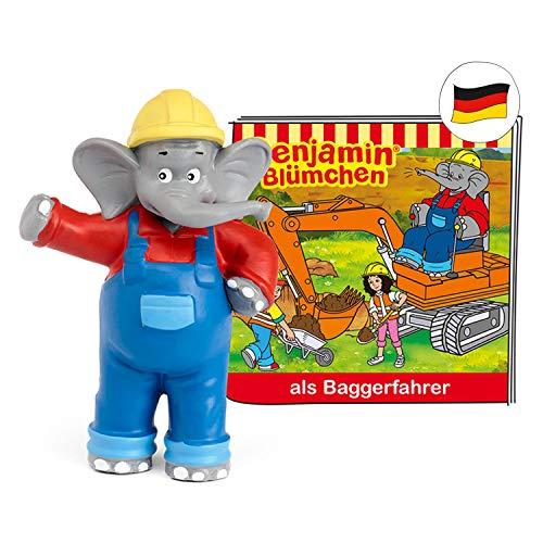 tonies Hörfiguren für Toniebox: Benjamin BLÜMCHEN Hörspiel - Benjamin als Baggerfahrer Figur - ca. 41 Min. - ab 3 Jahre - DEUTSCH
