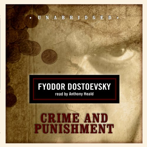 Crime and Punishment                   By:                                                                                                                                 Fyodor Dostoevsky,                                                                                        Constance Garnett (translator)                               Narrated by:                                                                                                                                 Anthony Heald                      Length: 20 hrs and 28 mins     2,524 ratings     Overall 4.4