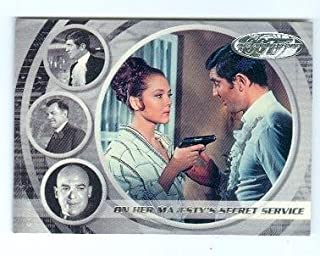 George Lazenby and Diana Rigg James Bond trading card 40th anniversary #19 Her Majestys Secret Service Contessa Tracy di Vicenzo