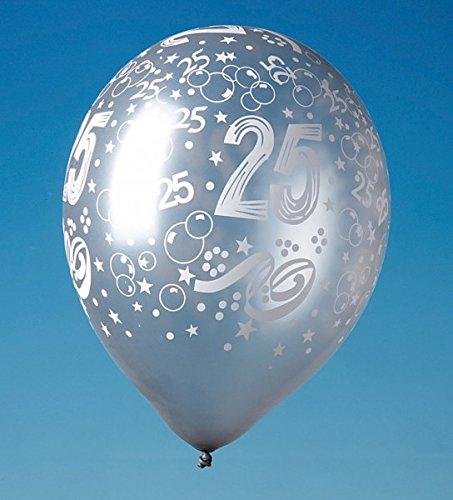 5 Zahlenballons 25, Silberhochzeit