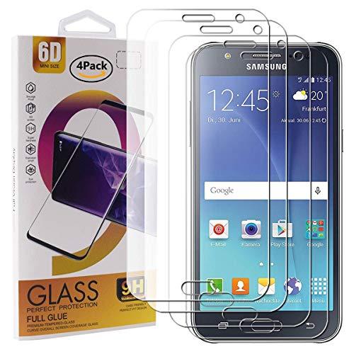 Guran 4 Paquete Cristal Templado Protector de Pantalla para Samsung Galaxy J5...