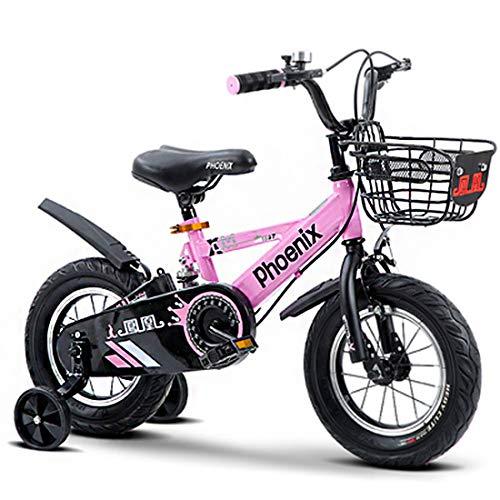 Ragazzo Bicicletta BMX Baby Taglia 12' 14' 16' 18' Acciaio al Carbonio Bici per Bambini età 2-11 Anni Ammortizzatore, Rotella di Addestramento Flash,18'