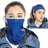 Zupro Milk Silk Face Mask Bandanas,Silky and Cool,Sun UV Protection Balaclava Neck Gaiter Multi Functional Headband,Magic Scarf,Headwear,for Hiking Running,Cycling,Yoga,Fishing,Hunting.(Royal Blue)