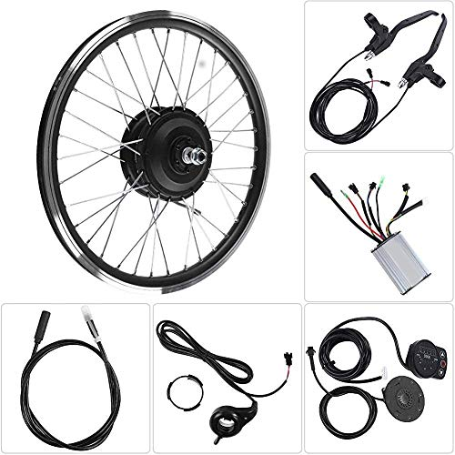 "ZLM Elektro-Bike Conversion Kit 24V 250W elektrischer Fahrrad-Rad-Kit, LED-Anzeige 20 ""Front/Rear Wheel E-Bike Motor Conversion,Rear Engine"