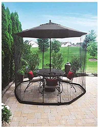 Outdoor Umbrella Outdoor Garden Umbrella Table Screen Umbrella Mosquito Patio Table Screen,Suitable for gazebos, parasols Bug Netting Cover (Size : 275cm*220cm) (Size : 335cm*220cm)