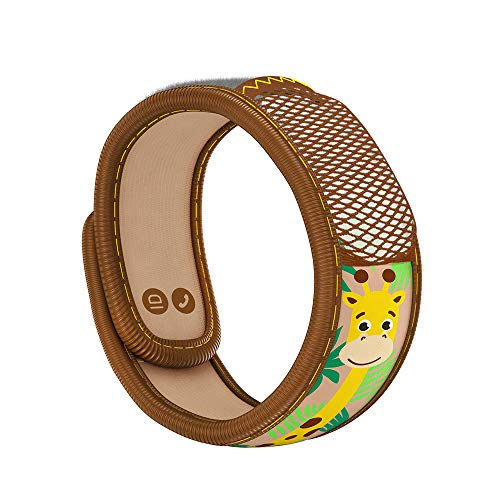 PARA'KITO Mosquito Insect & Bug Repellent Kids Wristband - Waterproof, Outdoor Pest Repeller Bracelet w/ Natural Essential Oils (Giraffe)