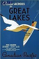 ERZAN-1000ピースの木製パズル五大湖を渡るカナダ太平洋クルーズ1936年ヴィンテージ旅行教育的な面白いパズルゲーム