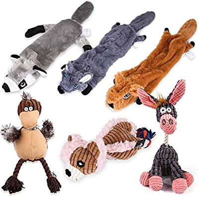 STAJOY Plush Dog Toys Squeaky for Puppy Small Medium Dogs (6 packs)
