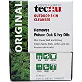 Tec Labs Tecnu Original Poison Oak & Ivy Outdoor Skin Cleanser Individual Use Packets - First Step in Poison Ivy Treatment - 50 Count