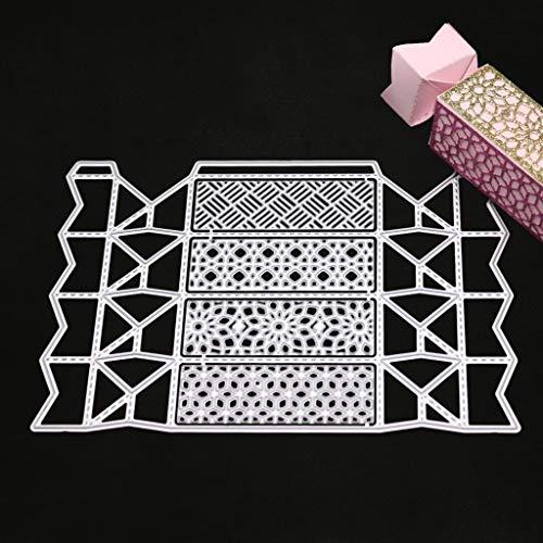 hgfcdd Kreative Pralinenschachtel Metall Stanzformen Schablone DIY Scrapbooking Album Stempel Papier Karte Präge Decor Handwerk