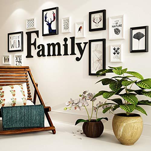 PPundDD Fotowand,massivholz Rostschutz Foto-Rahmen-Wand,kreativ Hintergr&wand.für Dekoration Wohnzimmer Restaurant-a