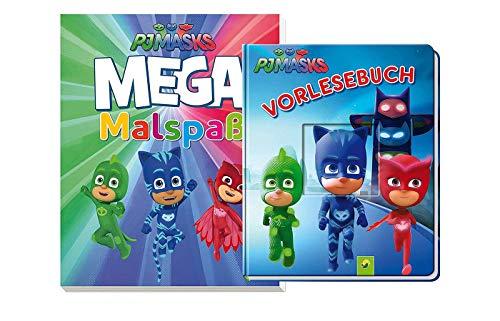 PJ Masks: Vorlesebuch (Pappbilderbuch) + MEGA Malspaß