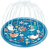 Chnaivy Splash Pad Wasserspielzeug Spielmatte Spielzeug Sprinkler Play Matte Wasserspielzeug Outdoor Garten Wasserspielmatte Baby Pool Pad Spritzen für Kinder 170cm