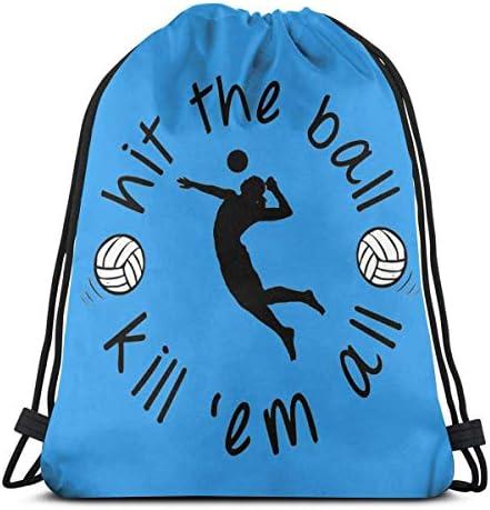 Volleybal Trekkoord Rugzak Schoudertassen Gym Bag