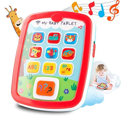 HISTOYE Baby Learning Toys Tablets Gifts for 1 + Year Old,Toddlers Educational Toys Learn to Talk, Electronic Learning Pad for 1 2 Years Old, ABC, 123, Sounds and Lights Smart Tablet for Toddlers