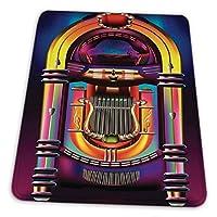 マウスパッド ゲーミングマウスパッド-ビンテージロックンロールジュークボックスアートプリントサイン滑り止め デスクマット 水洗い 25x30cm